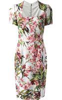 Dolce & Gabbana Floral Shift Dress - Lyst
