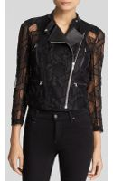 Yigal Azrouel Jacket - Embroidered Tulle Lace Cropped Moto - Lyst