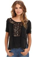Free People Embellished Tee - Lyst