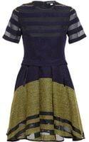 Ostwald Helgason Sheer Stripe Detail Dress - Lyst