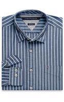 Tommy Hilfiger Classic Fit Stripe Shirt - Lyst