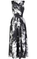Preen By Thorton Bregazzi Printed Crepe Viscose Crystal Vertigo Dress - Lyst