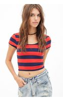 Forever 21 Striped Crop Top - Lyst