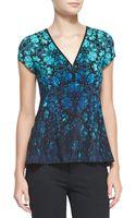 Nanette Lepore Motive Floralprint Silk Top - Lyst