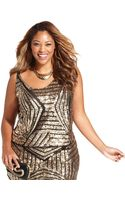 Soprano Plus Size Sleeveless Sequined Top - Lyst