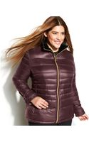 Calvin Klein Plus Size Hooded Quilted Packable Down Puffer Coat - Lyst