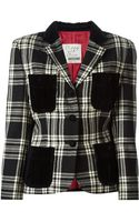 Moschino Tartan Jacket - Lyst