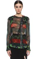 Givenchy Floral Chiffon Paneled Blouse - Lyst