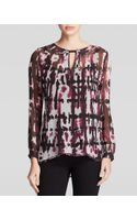 Red Haute Tie Dye Silk Blouse - Lyst