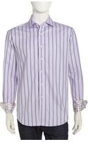 Robert Graham Isaac Longsleeve Patternstriped Sport Shirt - Lyst