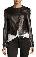 Michael Kors Asymmetric Leather Jacket - Lyst