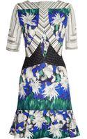 Peter Pilotto Elizabeth Printed Silk-blend Cloquã Dress - Lyst