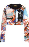 Emilio Pucci Printed Neoprene Hooded Top - Lyst