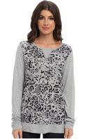 Michael Stars Cheetah Print Ls Sweatshirt - Lyst