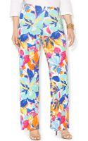 Lauren by Ralph Lauren Petite Floral-print Wide-leg Pants - Lyst