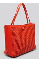 Tory Burch Tote Romi Woven Leather - Lyst