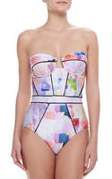 Suboo Floral Rise Onepiece Swimsuit - Lyst