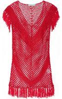 Melissa Odabash Riri Fringed Crocheted Coverup - Lyst