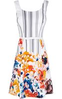 Karen Millen Cotton Floral Print Dress - Lyst