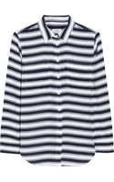 Equipment Slim Signature Striped Washedsilk Shirt - Lyst