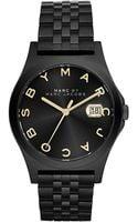 Marc By Marc Jacobs Slim Black Bracelet Watch - Lyst