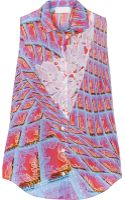 Peter Pilotto S Printed Silk Top - Lyst