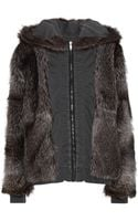 Haider Ackermann Reversible Cotton Jacket with Raccoon Fur - Lyst