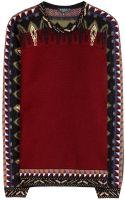 Etro Wool Blend Sweater - Lyst