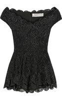 Lela Rose Guipure Lace Pencil Skirt - Lyst