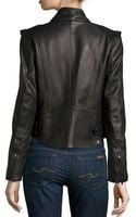 Alexander Wang Shawlcollar Leather Motorcycle Jacket - Lyst