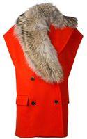 MSGM Fur Collar Vest - Lyst