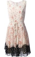 RED Valentino Floral Print Dress - Lyst