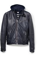 Mango Leather Biker Jacket - Lyst