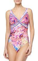 Gottex Fauna Twisted Floralprint Onepiece Swimsuit - Lyst