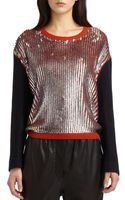3.1 Phillip Lim Sequined Wool-blend Sweater - Lyst