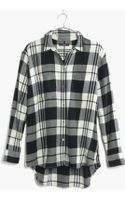 Madewell Flannel Oversized Boyshirt in Lamont Plaid - Lyst