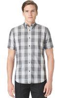 Calvin Klein Largeplaid Shirt - Lyst