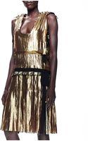 Lanvin Metallic Drop-waist Dress - Lyst