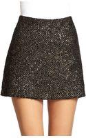 Alice + Olivia Elana Metallic Tweed Mini Skirt - Lyst