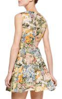 RED Valentino Wildflower Print Dress - Lyst