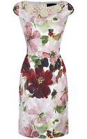 St. John Garden Floral Print Dress - Lyst