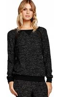 Michael Stars Long Sleeve Sweatshirt with Chiffon - Lyst