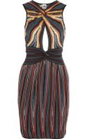 M Missoni Striped Crochet-knit Cotton Blend Dress - Lyst