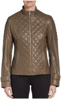 Via Spiga Quilted Leather Jacket - Lyst
