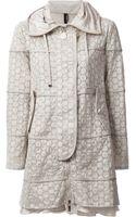 Moncler Lace Detail Coat - Lyst