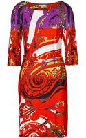 Etro 34 Sleeve Printed Dress - Lyst