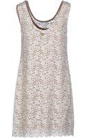 Scee By Twin-set Short Dress - Lyst