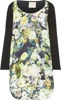 Mason by Michelle Mason Printed Silk and Stretch Jersey Dress - Lyst