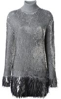 McQ by Alexander McQueen Sequinned Knit Dress - Lyst