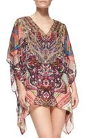 Camilla Beaded Printed V-neck Caftan Coverup - Lyst